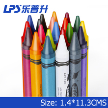 Non Toxic Oil Pastel Wax Crayon Round Barrel Extral Jumbo Crayons 12 Colors Set Color Box
