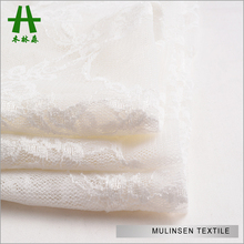 Mulinsen Textile Wedding Dress Material Nylon Lycra Spandex Lace Fabric White