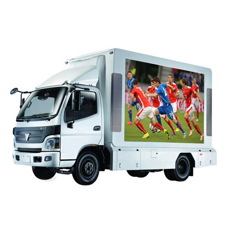 Waterproof P6 full color outdoor mobile truck advertising led display
