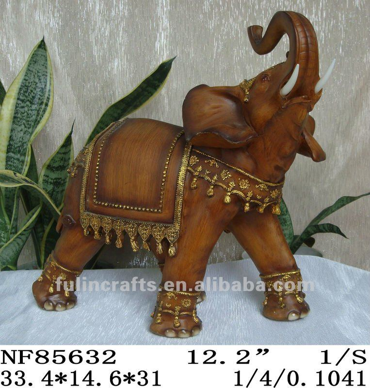 new polyresin gold elephant home decoration
