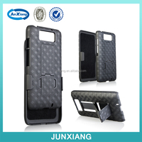 2 in 1 Hard plastic kickstand phone case holster combo case for MOTOROLA XT1080