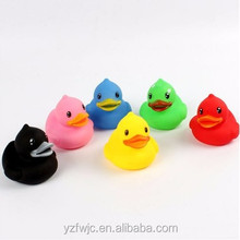 wholesale promotional plastic duck, floating baby bath duck, yellow custom rubber duck