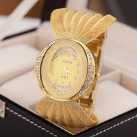 stainless steel chain gold silver rose gold color wrist watch for lady