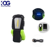 Mini Small 3 Modes Magnetic USB Rechargeable COB LED Work Light, Rechargeable LED Flashlight with Clip
