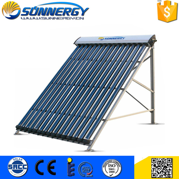 Factory Directly evacuated tube heat pipe 18tube solar collector Customized