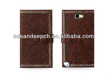 british-style phone case for samsung note 2 cheap full body pu leather cell mobile phone case