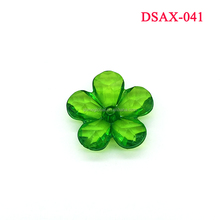Transparent Clear Flower Leaf Shape Acrylic Beads Jewelry Accessory