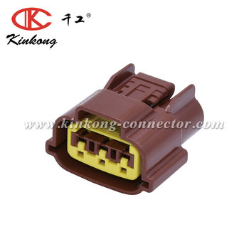 Brown Female 3 Pin for SR20 Throttle Position Sensor TPS Connector with terminals and seals