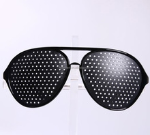 Black Pinhole Glasses for Blurred Vision