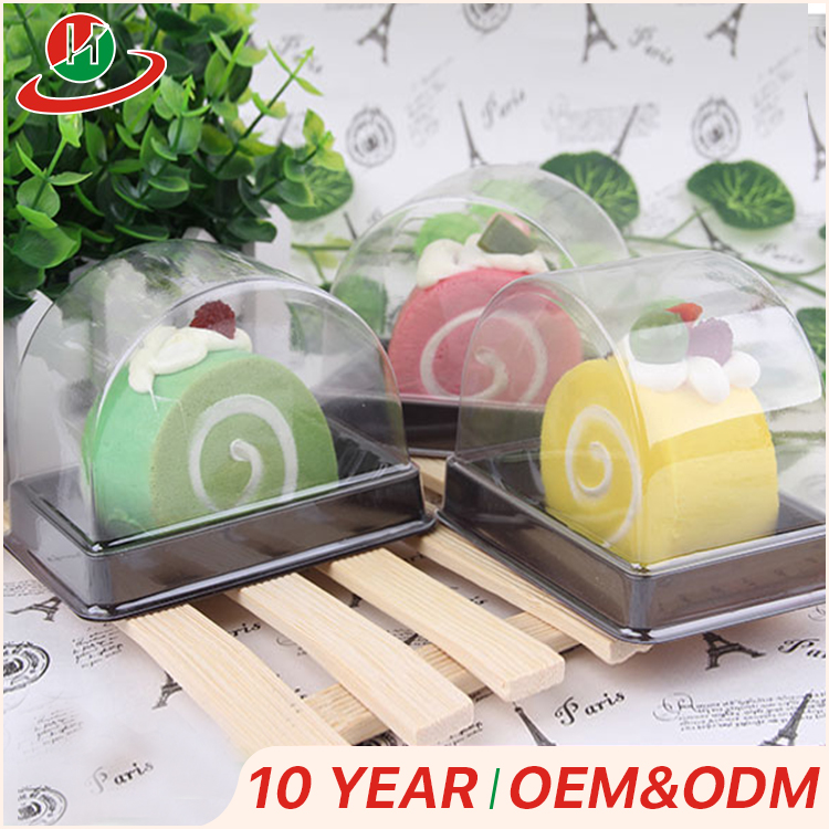 Clear single cupcake case muffin dome holder disposable plastic cake roll container box container