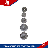 wrought stamped ornamental wrought iron casting flowers