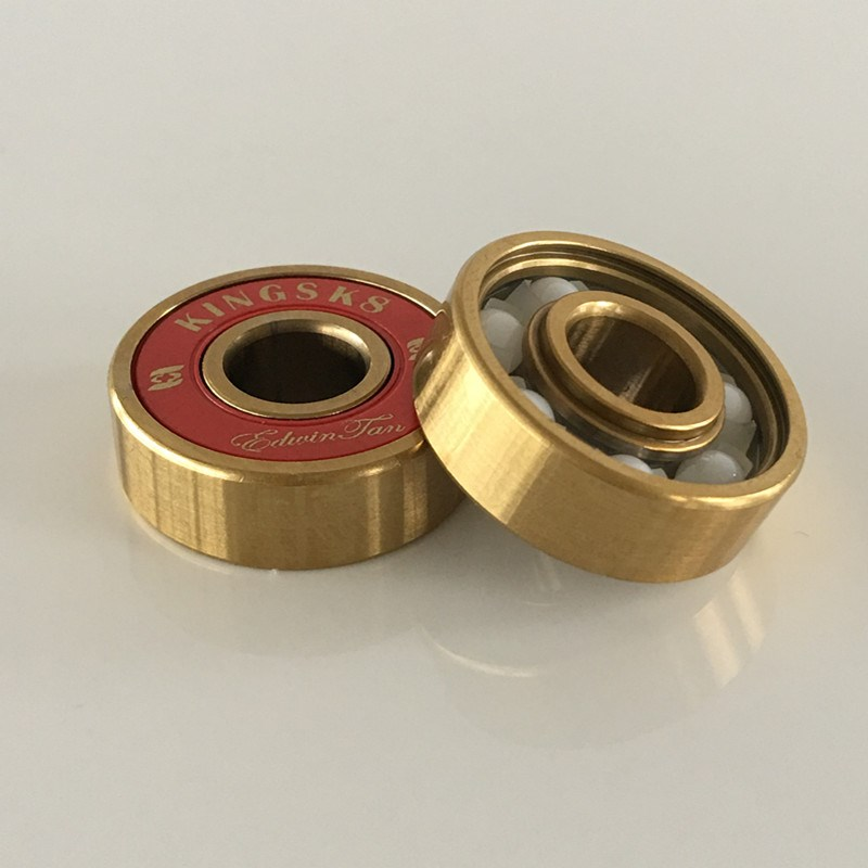Golden Titanium ZrO2 Ceramic electric skateboard bearings, electric skateboard