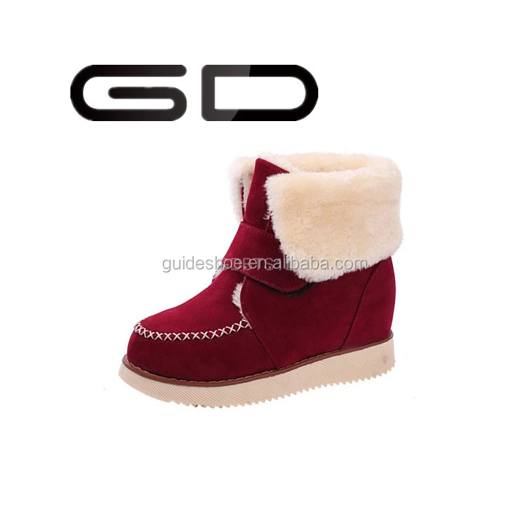 GD New Brand Female Australia Lady Fashion Keep Warm Sheepskin Wool Winter Snow Boots Design Women's Luxury Boot Shoe Wholesale