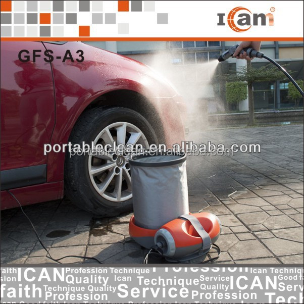 portable water pump washing machine with 15L folding bucket