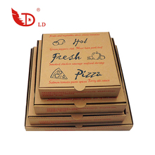 Wholesale High Quality Custom Brown Kraft Corrugated Paper Pizza Box