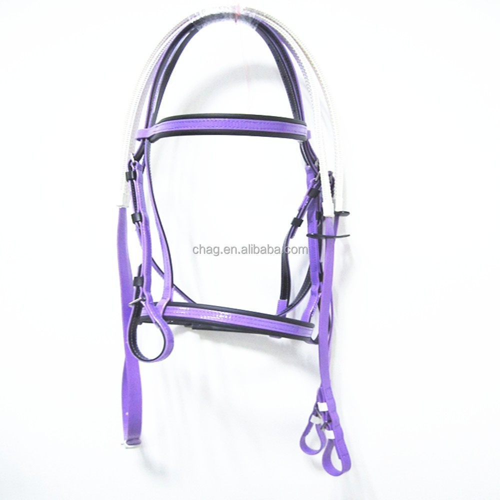 flexible horse bridle and rein set for racing