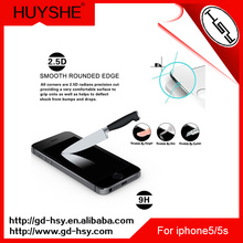 HUYSHE 9h hardness tempered custom glass screen protector for iphone5