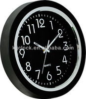 Decorative Clock Black Frame White Numbers