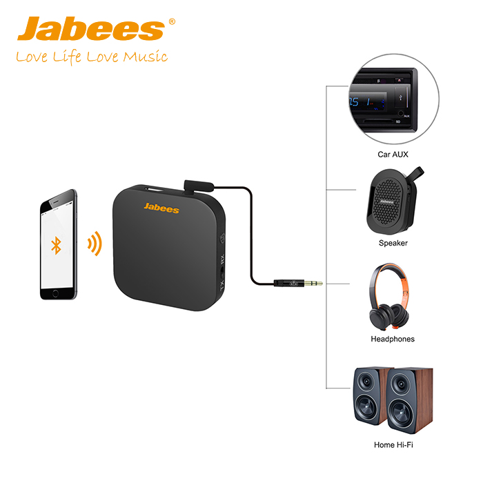 Jabees Portable Dual Mode Wireless Audio Bluetooth Transmitter Receiver