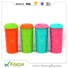 Silicone ceramic coffee mug without handle