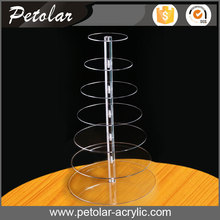personalized wedding party 7 tier cupcake tower acrylic cake display stand