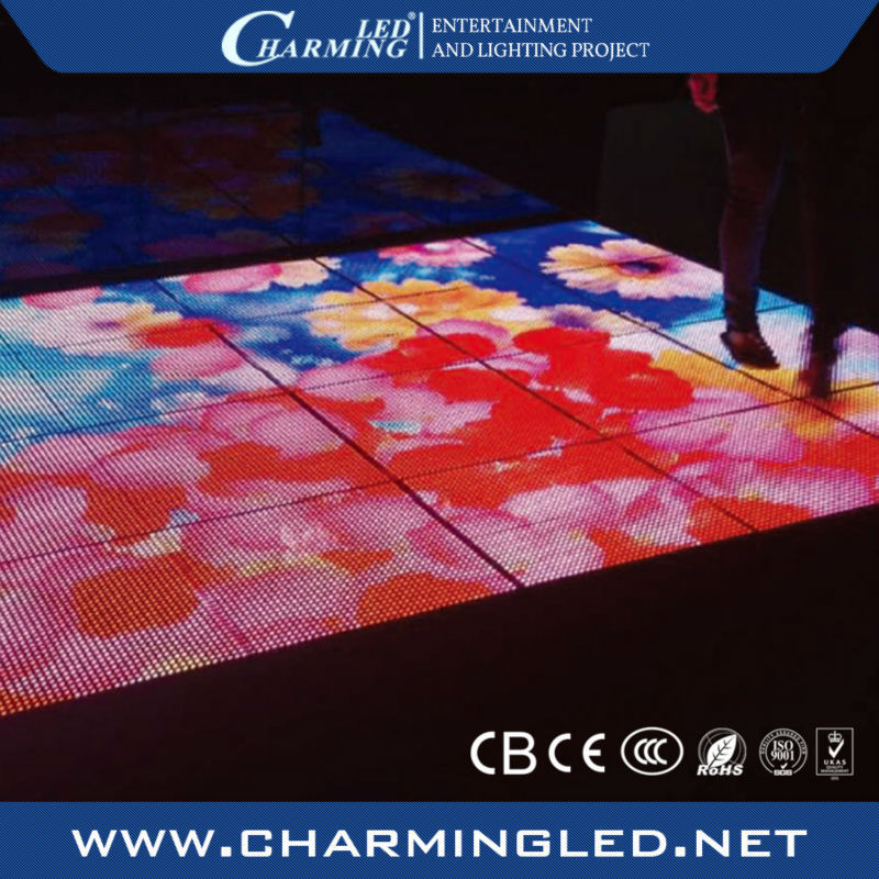 light weight led video dance floor for disco / club stage
