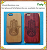Laser Engraving hand of fatima Rose Wood Back Cover Mobile Phone Case For Iphone 6 Cover cell