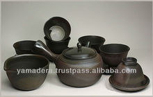 Pottery tea set change with a flame T-111 made in Japan for wedding door gift