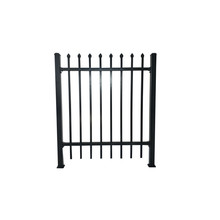 Euro Style Metal Palisade Fence / Wrought Iron Fence Panel Low Price