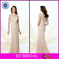 VA1477 Champagne Tall Mother Of The Bride Dress With Jacket