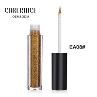 Cosmetics manufacturing 12 color waterproof long lasting glitter eyeliner
