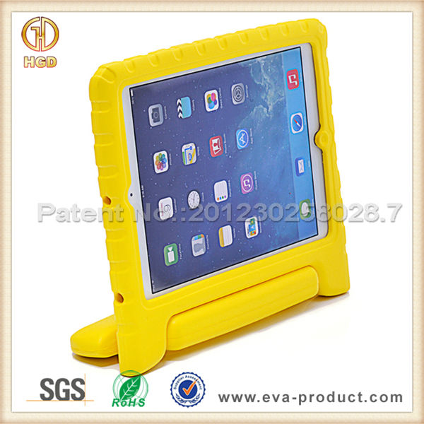 EVA foam shock proof heavy duty case for ipad air with rotatable stand