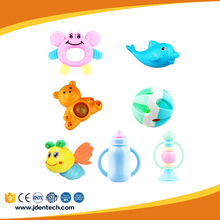 EN71 safe plastic funny hand bells rattle toy for baby new years toy