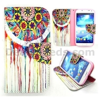 Wallet Style Magnetic Flip Stand Leather Case for Samsung Galaxy S4 i9500 i9505 i9508