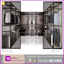 Modular Homes Furniture Wooden Almirah Designs Luxury Wooden Walk-in Closet