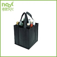 Factory sales promotional custom made non woven bags for carrying beer and wine