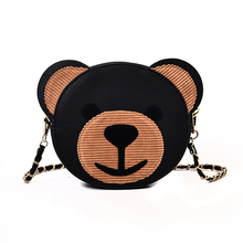 2018 new Korean version lovely color hit bear chain shoulder bag tide mini messenger handbag