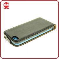 New Arrival High Quality Real Genuine Leather Flip Case for iphone 5C