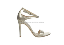 Ladies sexy high heel wedding shoes sandal european style white glitter leather sandal shoes