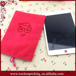 Thick Double Layer Cheap Wholesale Velvet Tablet Pouch For Ipad Mini