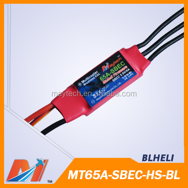 Maytech 65A multicopter ESC with Blheli for aviones radio control