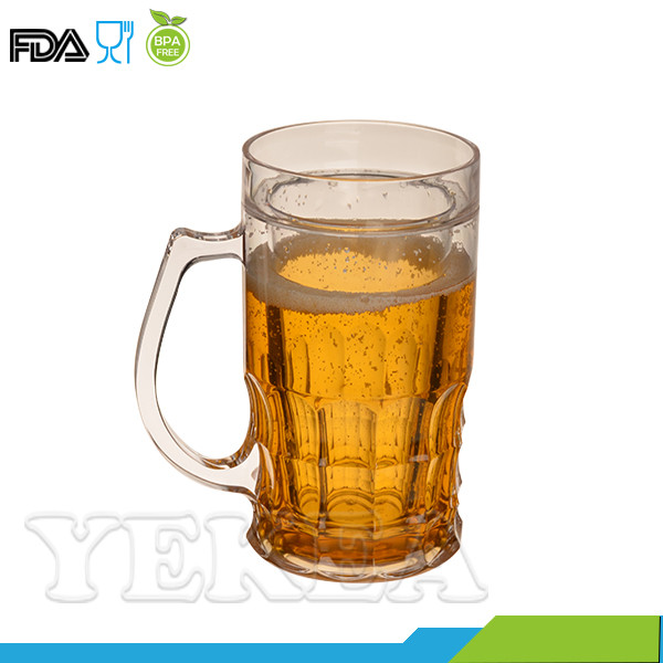 wholesale quality double wall freezer Beer stein frosty mug with gel