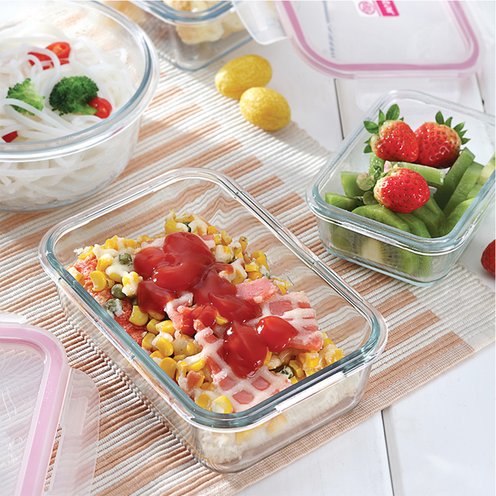friendly enviroment glass food storage vacuum lunch box