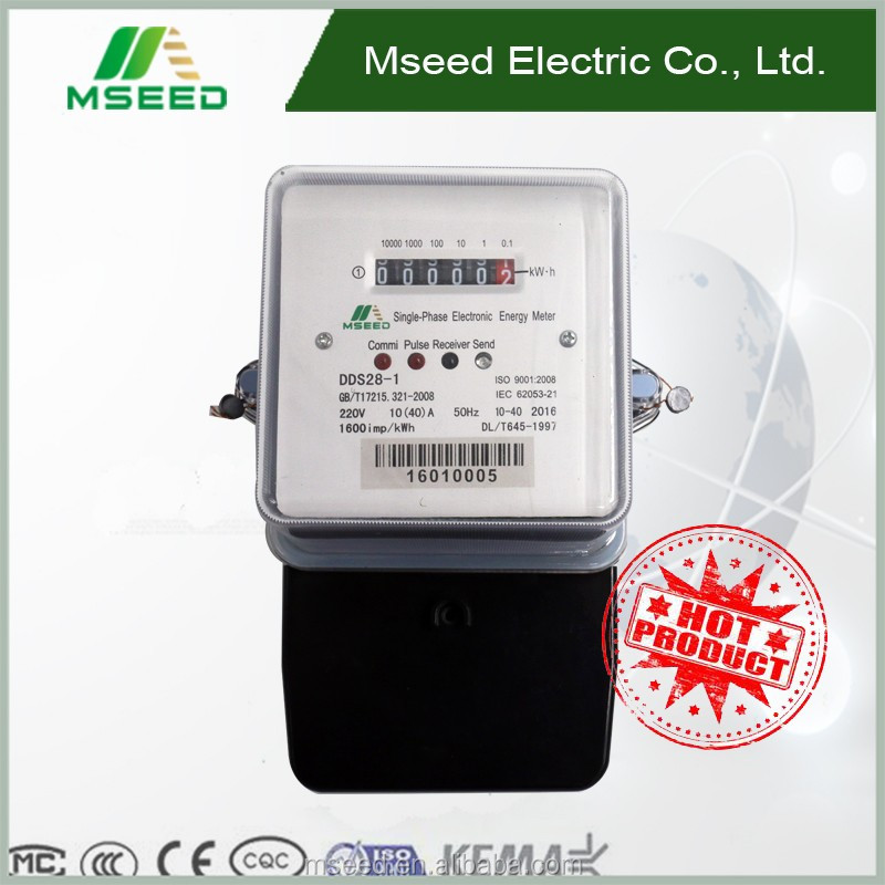 Hot Product Single Phase Energy Meter ^with RS485/IR Communication Electric Power Meter