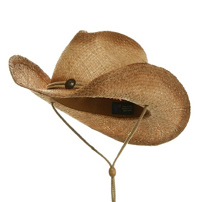 Fashion Wholesale Western Bulk Straw Cowboy Hats With Cross Stitching