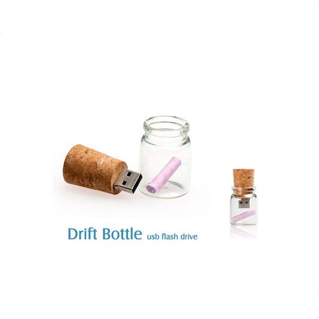Bulk Cheap Drift Bottle USB Flash Drive 16GB for Photographer Wedding Gift