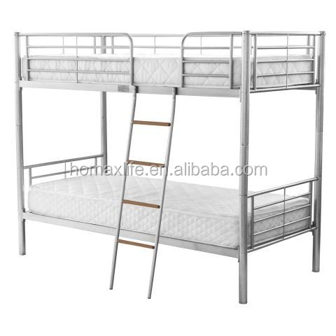 school/military bunk beds double decker metal frame for adults design with ladder