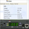 kWh PDU 15 Amp 115V rack mount power strip