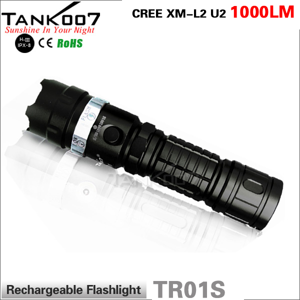 Super bright police led flashlight rechargeable XM-L2 <strong>U2</strong> LED torch flashlight TR01S