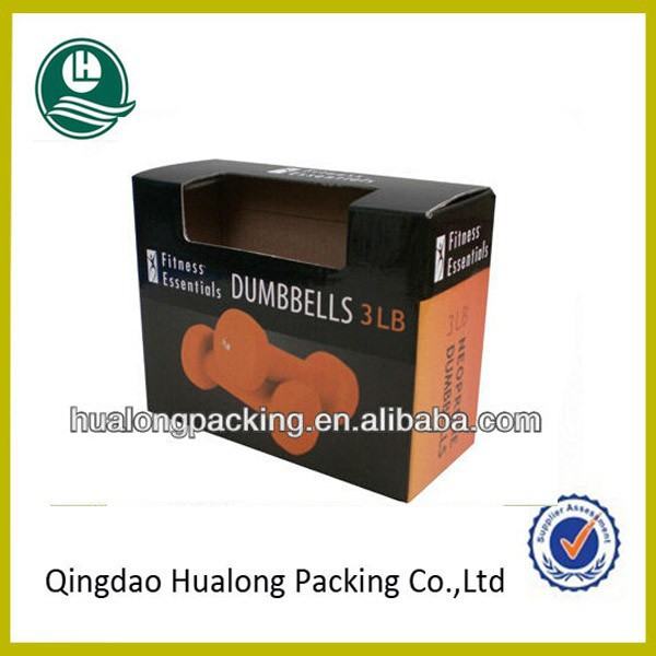 Glossy cardboard cartons boxes with window